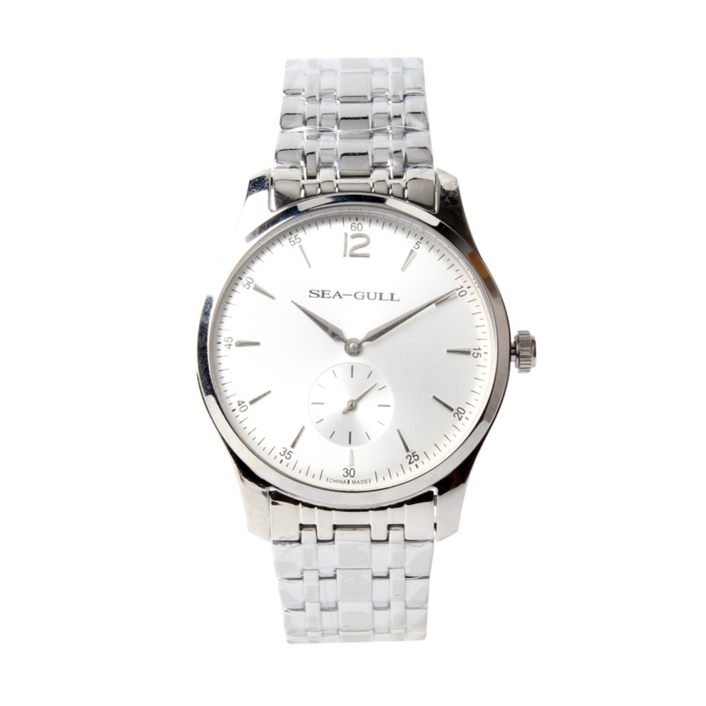 Ultra Thin 9MM Seagull PVD With Stainless Steel Exhibition Back Mechanical Men s Business Watch D816