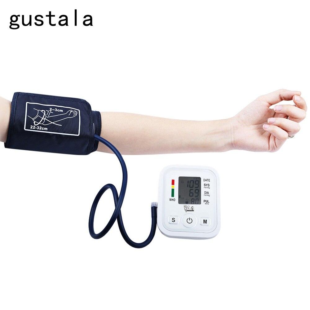 Gustala Automatic Arm Blood <font><b>Pressure</b></font> Pulse Monitor Health Care Digital Upper Portable Sphygmomanometer Family Health Care Tool