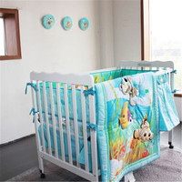 high quality lovely Baby Cot Bedding Set Newborn Cartoon Crib Bedding Kit Quilt Bumpers Sheet infant Bed product