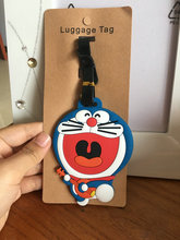 Handmade PVC Cartoon Cute Baggage Tag Doraemon Travel Аксессуарлар Чемодан ID Мекен Жолаушының Baggage Boarding Tag Portable Label