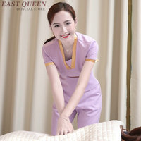 Women Spa thai massage beautician uniform beauty salon waitress beautiful uniforms female hotel pant suits clothing DD1335
