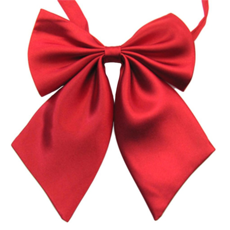 Men Women Kid Classic Big Butterfly Solid Bow Shirt Tie Knots Pre-tied Bowtie