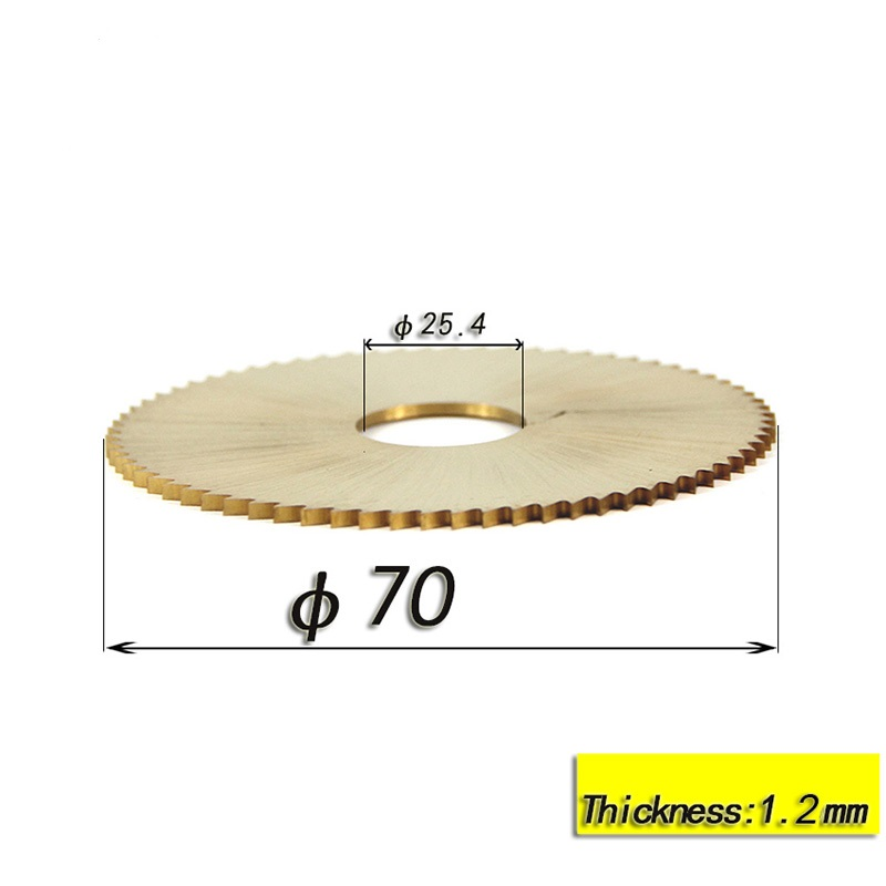 1pc 70x1.2x25.4mm 72T Titanium Coated Key Machine Cutter Circular Saw Blade Fit Horizontal Key Cutting Machine Locksmith Tools 1pc 70x1.2x25.4mm 72T Titanium Coated Key Machine Cutter Circular Saw Blade Fit Horizontal Key Cutting Machine Locksmith Tools