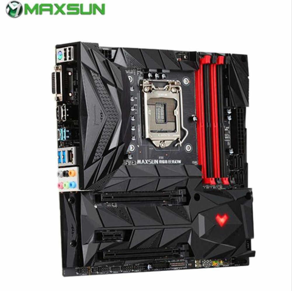 MAXSUN B360W Intel Motherboard 1151 USB3.1/Dual Channel DDR4 Fog-black PCB Double M.2 slots Audio optimization placa mae 1151