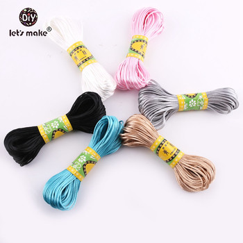 Let's Make 20m 1pc Satin Cords 1mm DIY Nylon String Rope Complice and Findings Baby Silicone Teething Necklace Beads Baby Teet недорого