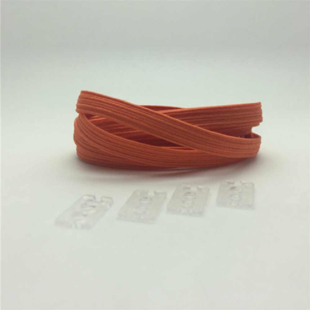 1 คู่ 100 ซม. ยืดล็อคไม่มี Tie Lazy Shoelaces รองเท้าผ้าใบ Bootlaces ยืดหยุ่นยางรองเท้าเด็กปลอดภัยเชือกผูกรองเท้า