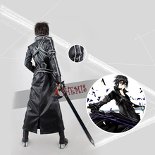 Athemis Sword Art Online Kirito leather Cosplay Costume high quality any size outfit custom made athemis gane assassin s creed female assassin cosplay costume custom made set high quality