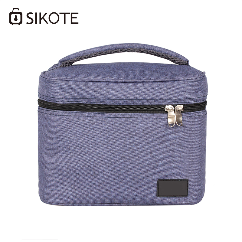 SIKOTE 5L Food Beverage Fresh bag Oxford Portable Tote Bags Insulation Lunch Box Zipper Solid Picnic Bag Aluminum Film Lining