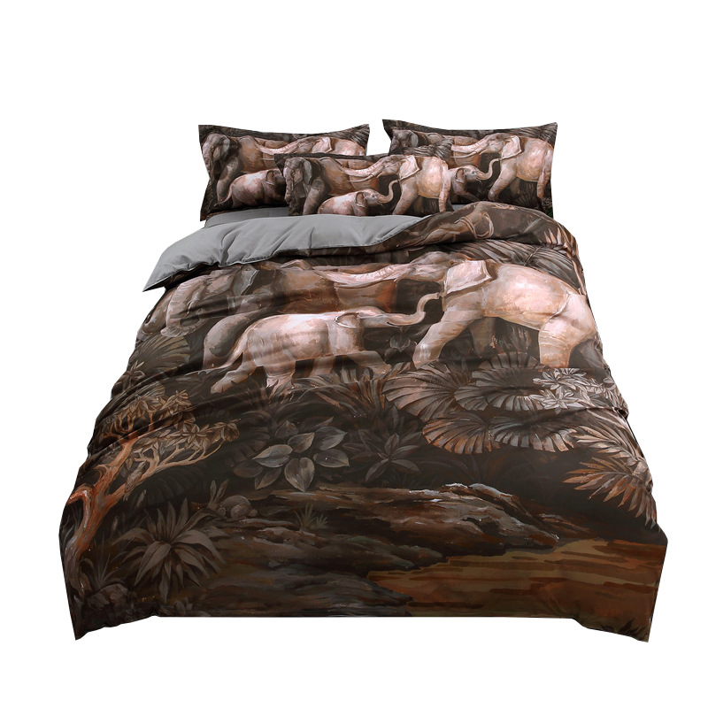 Oil Printing 3D Bedding Set 2019 Duvet Cover 3 Pcs Elephant Twin Full Queen King Size Pillowcases Bet Sets Dropshipping LM05