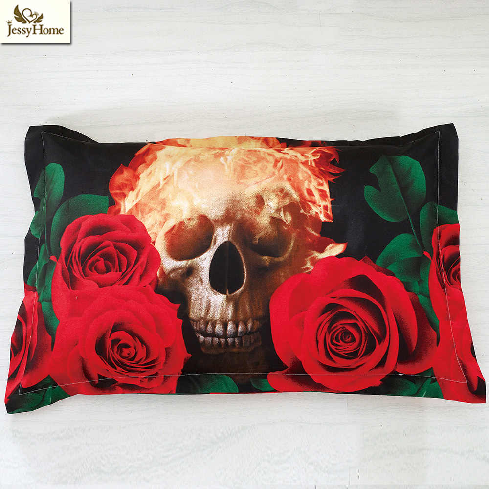 Jessy Home New Design Skulls Bedding Set Adult Home Bed Using 3D Bedding Set Twin Queen King Size