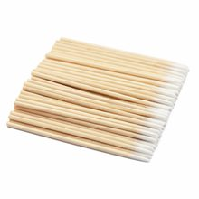 100pcs Wood Cotton Swab Cosmetics Permanent Makeup Tools Health Medical Ear Jewelry Clean Sticks Buds Tip Wood Cotton Head Swab(China)