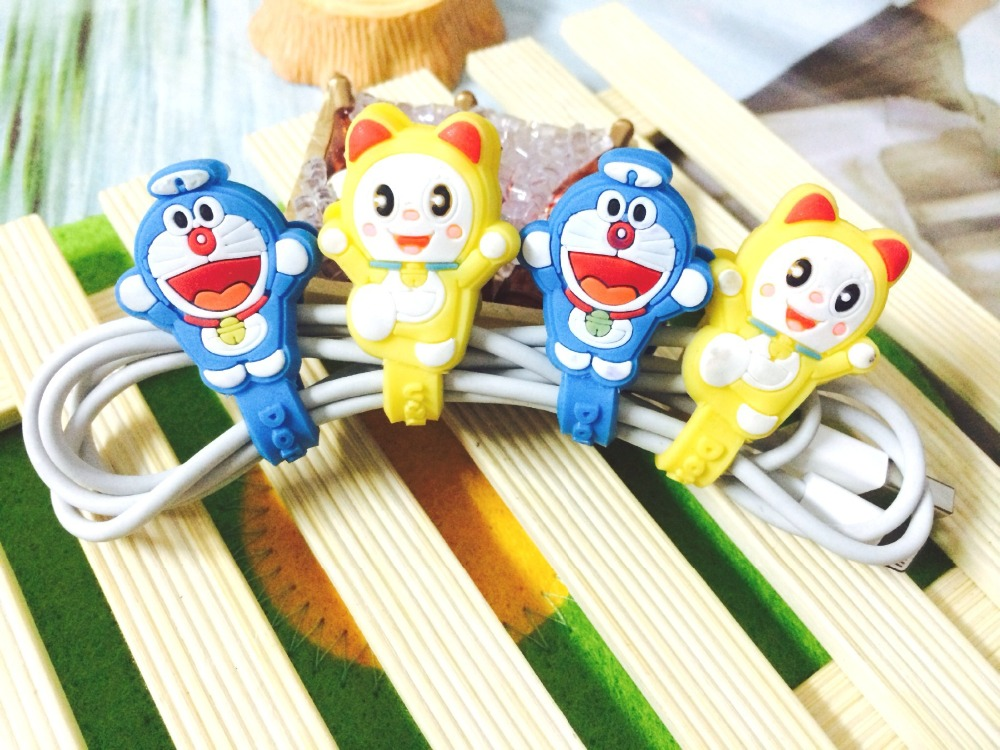 30pcs/lot Cartoon Cable Organizer Bobbin Winder Protector Wire Cord Management Marker Holder For Earphone iPhone MP3