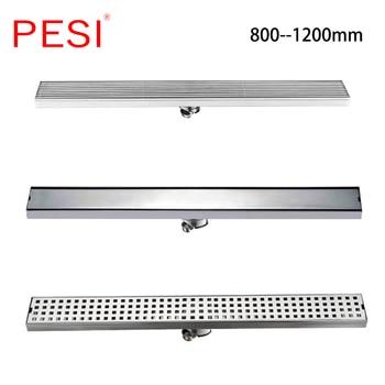 Linear Bathroom Floor Drain Gate 60cm 80cm 100cm 120cm SUS304 Stainless Steel Deodorization Type Side row Shower Drain.