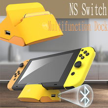 Portable TV Converter Dock For Nintendos Switch Console Bluetooth HDMI Video Converter 3 USB Connect Speaker Bluetooth Earphone