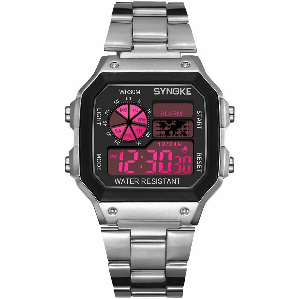 PANARS New Men Sports Watch Multi-function Business Waterproof Luminous Male Wrist Watch Fitness Digital Watch Alarm Timer Clock