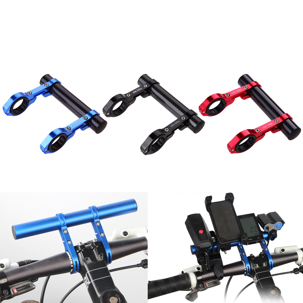 12cm Bicycle Computer Phone Mount Bracket Stand Carbon Fiber Bike Handlebar Extender Extension Light Holder Bicycle Accessories bike handlebar extender for bicycle light bell computer handle ba mount carbon fiber aluminium alloy bicycle handle bar extender
