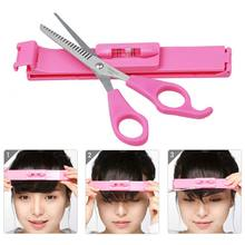 Women Girls Professional Hair Cutting Leveler Bangs Clipper Guide Tools Set Home DIY Hairdressing Scissor Ruler Styling Kit(China)
