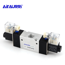 3V420 series 1/2 G solenoid valve single and double coil pneumatic control AC DC 12V 24V 36V 110V 220V 380