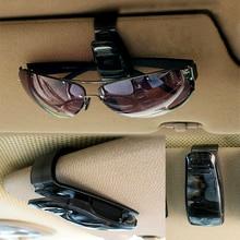 Carro clipe de óculos de sol prendedor superior organizador do carro auto pára sol viseira titular de armazenamento óculos cartão ticket clips dropshipping
