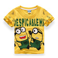 New 2016 Boys Girls Cotton T Shirt Despicable Me 2 Minions Short Sleeve Baby Children High Quality T-shirts Tee Child Clothing
