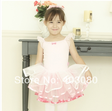 Hot sales pink sleeveless Girl's ballet skirt,5y - 8 years kid dress,kid's TUTU skort
