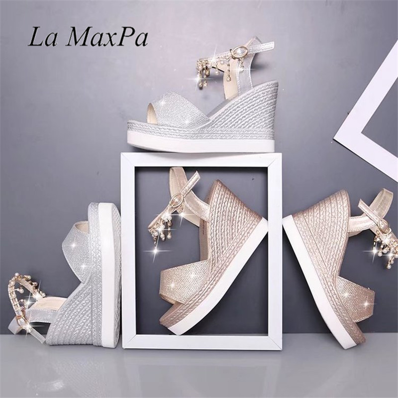 Ankle Strap High Heels Women Sandals 2018 Fashion Ladies Platform Summer Shoes Open Toe Crtsyal Buckle Strap Wedges Footwear hot 2018 summer new fashion women sandals wedges shoes high heel sandals platform open toe buckle casual shoes