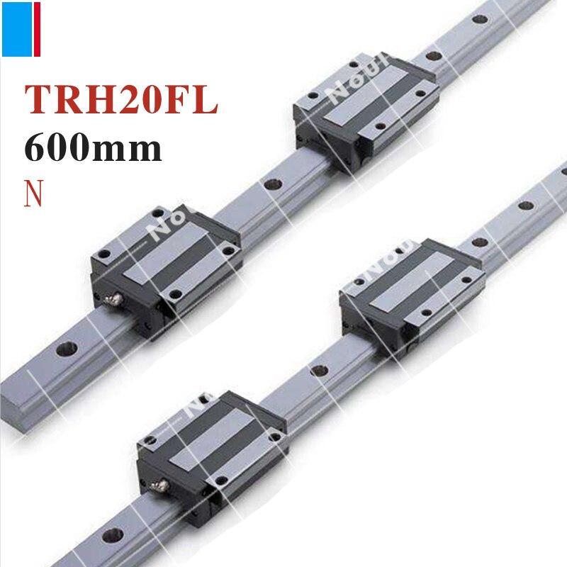 TBI CNC sets TBIMOTION TR20N 600mm linear guide rail with TRH20FL slide blocks stainless steel High efficiency горелка tbi sb 360 blackesg 3 м