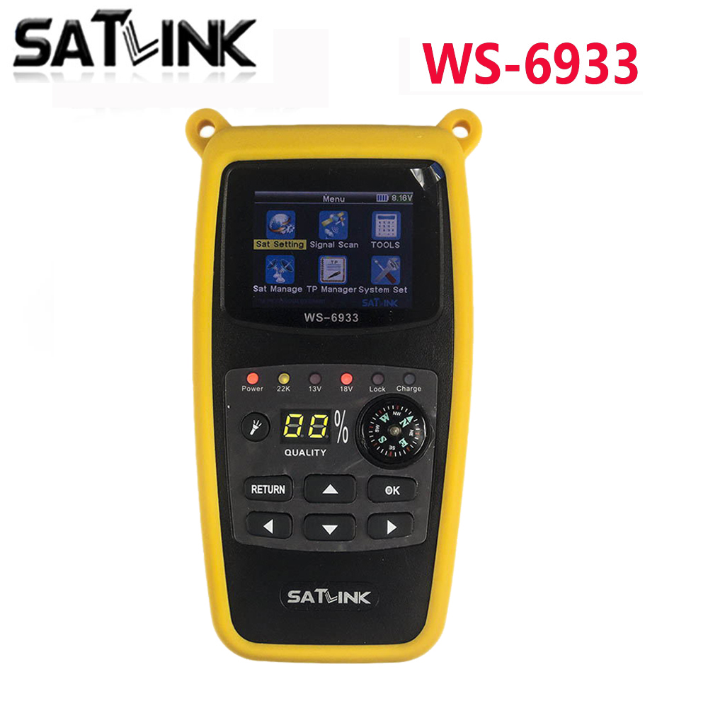 Original Satlink WS-6933 2.1 LCD Display DVB-S2 FTA C&KU Band WS6933 Digital Satellite Finder Meter Ship From Spain original dvb t satlink ws 6990 terrestrial finder 1 route dvb t modulator av hdmi ws 6990 satlink 6990 digital meter finder