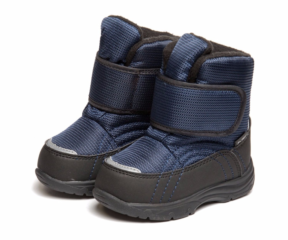 FLAMINGO Warm Winter Waterproof Fashion Snow Boots with Wool High Quality Anti-slip Size 22-27 Kids Shoes for Boy 72M-QK-0553
