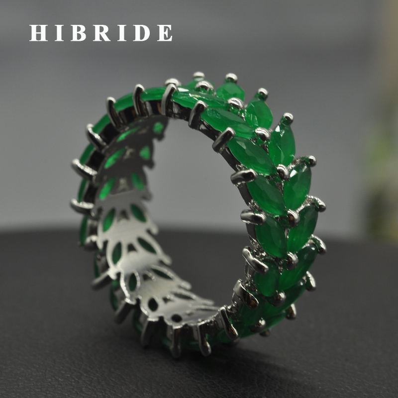 HIBRIDE New Fashion Dubai Jewelry Women Rings AAA Cubic Zirconia Finger Ring For Female Engagement Gifts R-184