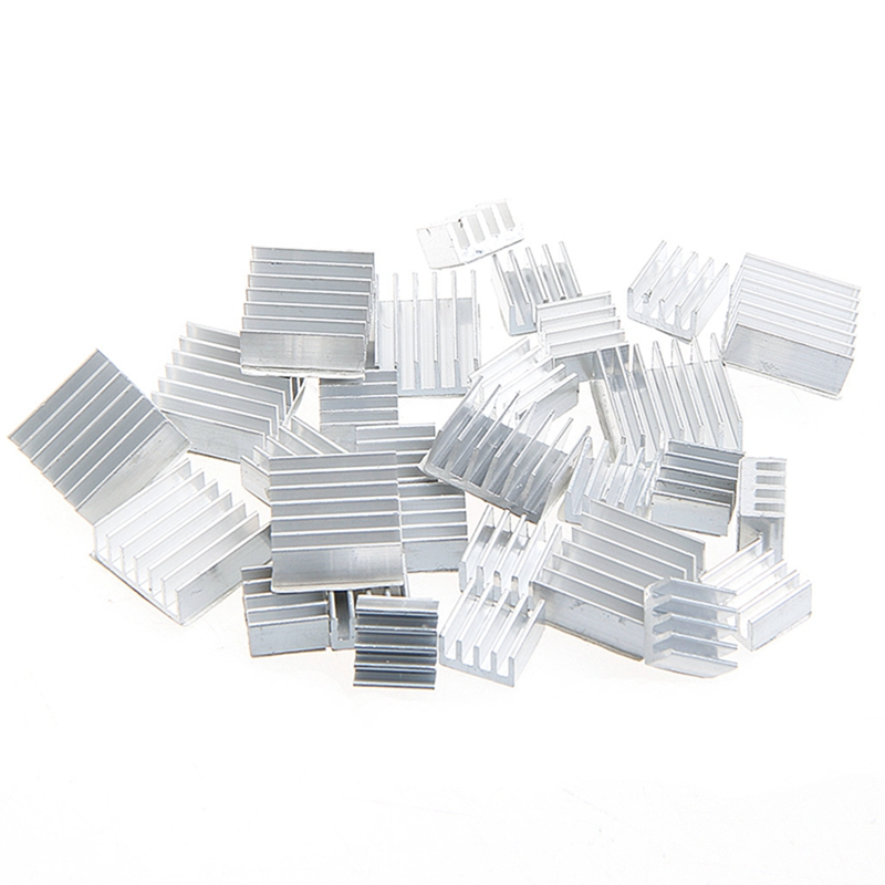 10Pcs Heatsink Fans Pure Aluminum Heat Sink For Cooling Pi 2 For Raspberry Pi 3 Z17 Drop ship synthetic graphite cooling film paste 300mm 300mm 0 025mm high thermal conductivity heat sink flat cpu phone led memory router
