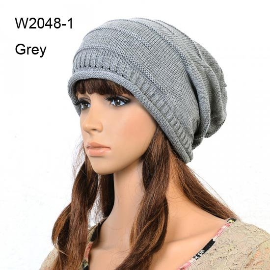 50pcs Cheap Mens Winter Hats Grey Slouchy Beanies Womens Crochet Beanie Cap  Slouch Women Baggy Rolled db081535f07
