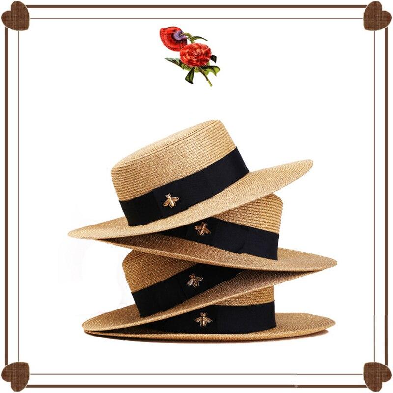 2019 шляпа канотье кепка летняя шапка летняя шляпы от солнца для женщин сплошной цвет для женщин соломенная шляпа летняя мода Открытый Защита...