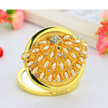 bling pearl crystal peacock Mini  Beauty makeup mirror pocket compact mirror espejo miroir de poche wedding party present gifts