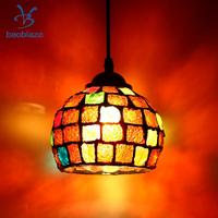 Vintage Hanging Light Mosaic Design Pendant Ceiling Lampshade Stained Glass 4