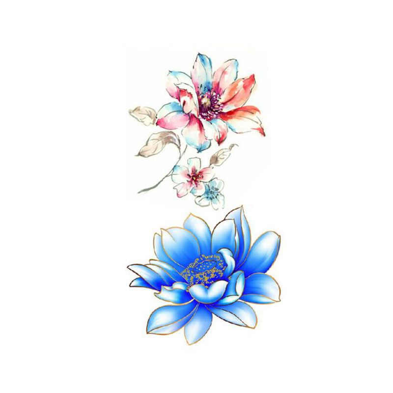 Addfavor 5pcs sexy 3d lotus flower designs waterproof body art arm addfavor 5pcs sexy 3d lotus flower designs waterproof body art arm temporary tattoos sticker leg fake tattoo sleeves paster in temporary tattoos from beauty mightylinksfo