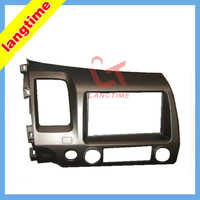 Car refitting dvd frame CD panel audio fascia for 07 2011 Honda Civic, 2DIN ( left hand ,with SRS hole )