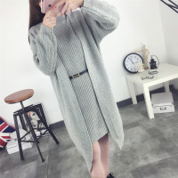 Autumn Sweater Suit 2016 Female Fashion Cardigan Sweater In The Long Spring Coat Dress