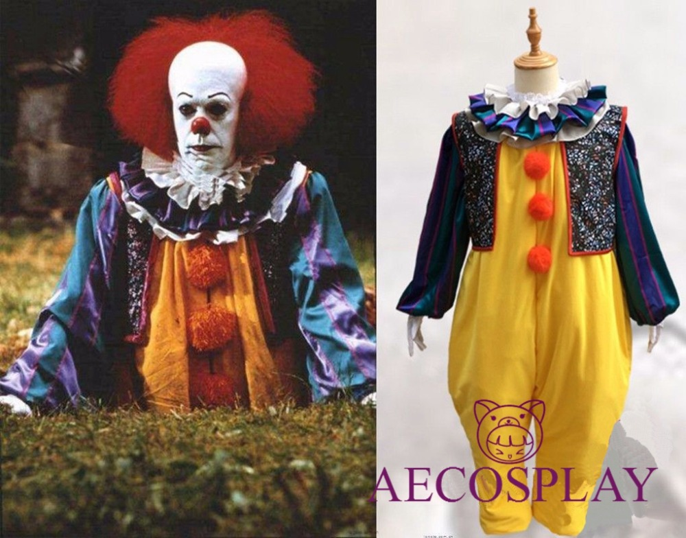 Halloween Fancy Movie Menswear Stephen King's It Pennywise Cosplay Costume Full Suit Unisex drop shipping