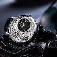 Reef Tiger/RT дизайнерские модные часы Мужские автоматические Роскошные брендовые водонепроницаемые часы RGA1995 (не движущийся двойной турбийон)