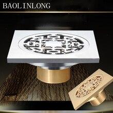 BAOLINLONG Brass Floor Drain Exquisite floor drain Panel Multiple beautiful Super Drainage uses