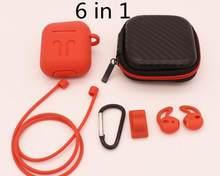 39681cbfe183 6 en 1 Airpods accesorios de Kits de silicona protectora cubierta para los  Airpods de Apple