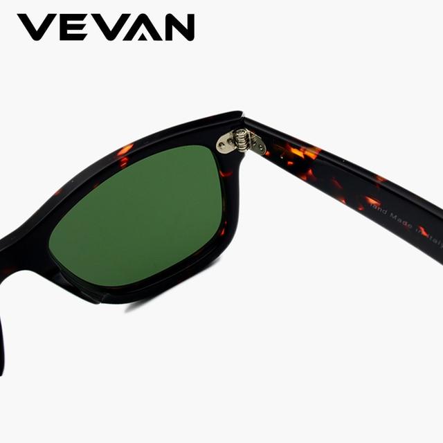 VEVAN Green Glass Lenses Luxury Sunglasses Women Brand designer Acetate Frame Sun glasses For women Multi Color Square Eyewear 10