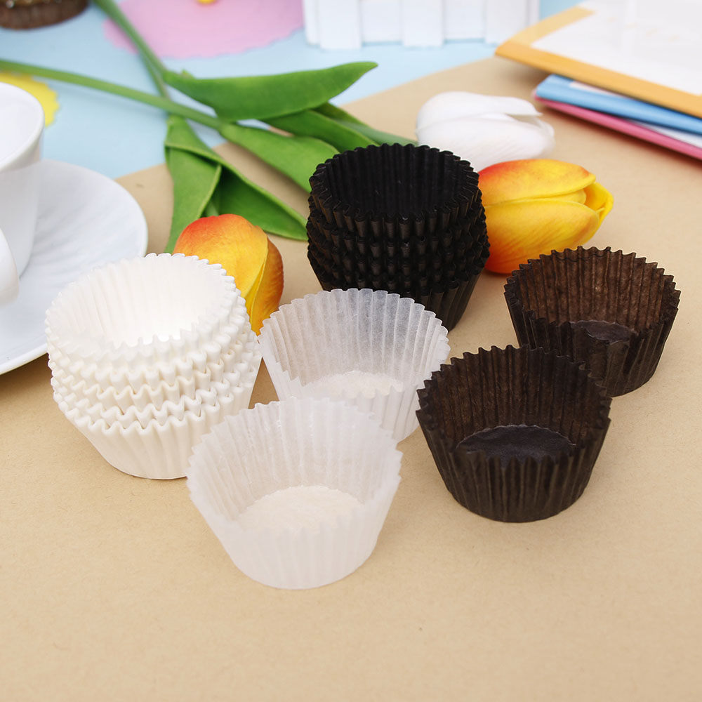 100Pcs Cupcake Paper Grease-proof Paper Cup Cake Liners Baking Muffin Cupcake Cases Cake Mold Tools Kitchen Baking Dropship