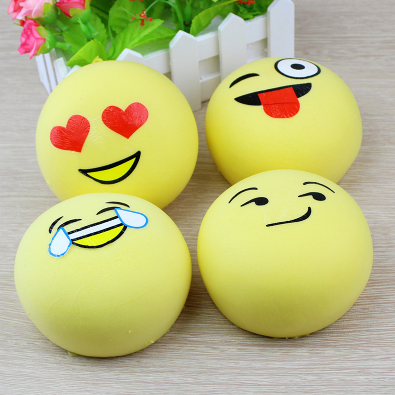 4CM 7CM Squishy Cute Slow Rising Squeeze Funny Face Expression Bread Kids Toy Phone Straps Charm Pendant Keyring Gift Decoration