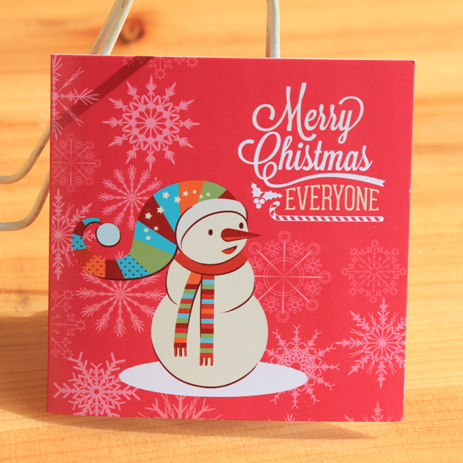 Christmas Happy New Year Cards $ Denier Small Square