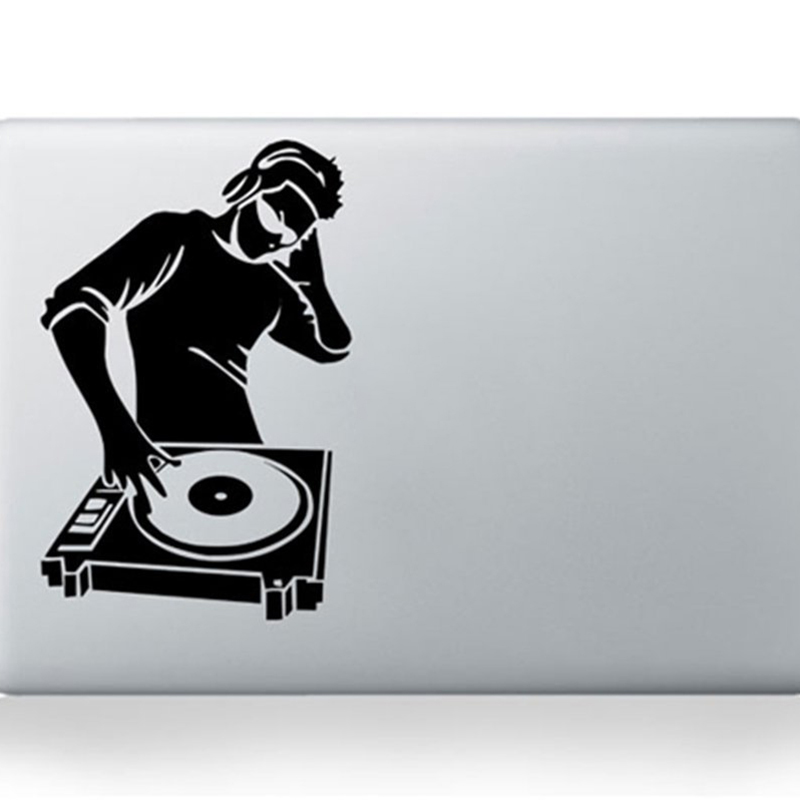 DJ Turn Table Hip Hop Rapper Cool Decal Vinyl Handsome And Cool Stickers Rear Window Car Sticker