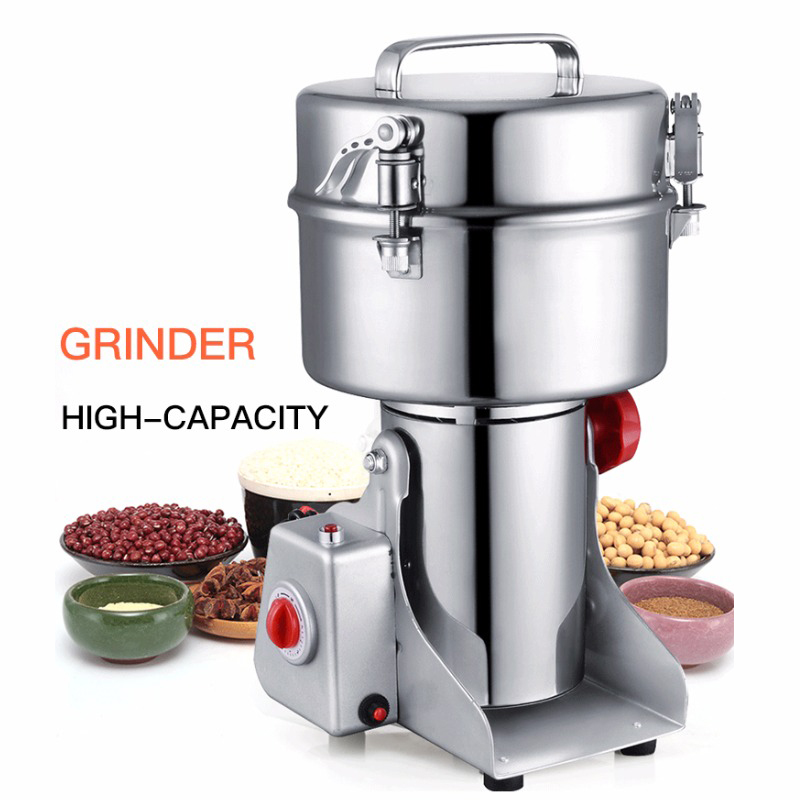 2000g Commercial Large Grinder 220V Multifunction Swing Type Herb Flood Flour Pulverizer Food Electric Mill Grinding Machine free by dhl 4pc hc 700 220v 110v multifunction 700g electric grinder herb flour coffee pulverizer food mill grinding machine