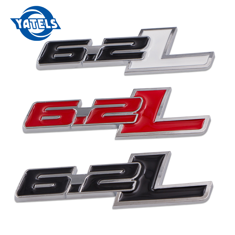 1pcs 6.2L 3D Metal Car Body Side Sticker Emblem Badge Car styling For Chevrolet Camaro 2011-2015 Ford <font><b>F150</b></font> 2014 Car <font><b>Accessories</b></font> image