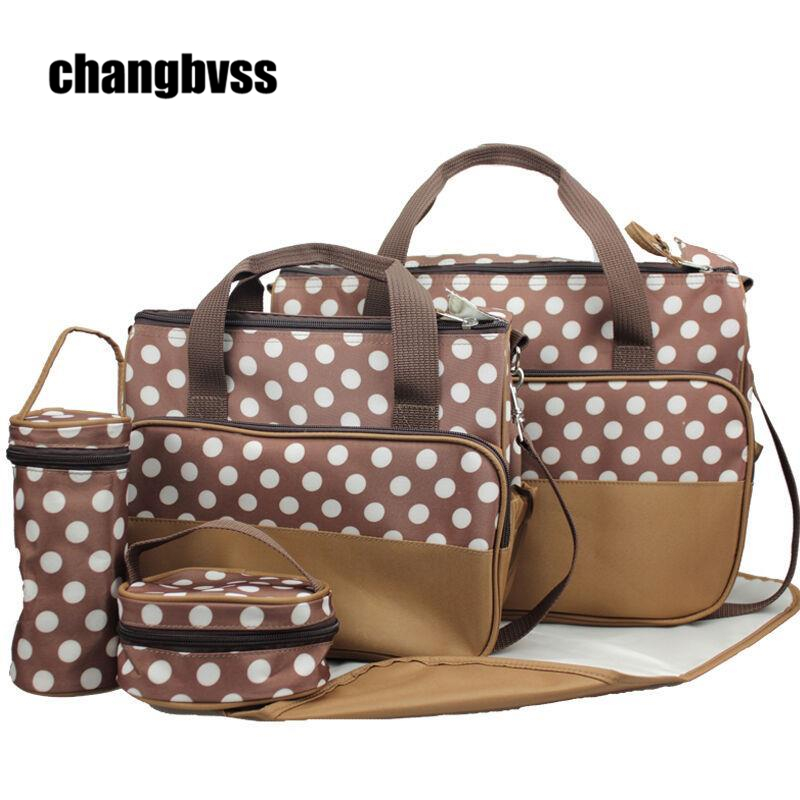 New Arrival 7 PCS/Set Mommy Bags for Baby,Infant Nappy Bags Set,Baby Nappy Changing Bag Diaper,8 Available Color,Large Capacity 3 pcs set baby nappy changing bag fashion ladies solid hobos handbag big capacity infant diapering bags travel stroller bag